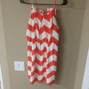 Cute Coral Chevron Dress